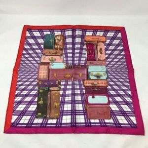 NWT Hermes H Luggage Design Dress Scarf 1-341-9419